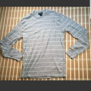 RALPH LAUREN LARGE STRIPED SWEATER POLO PONY